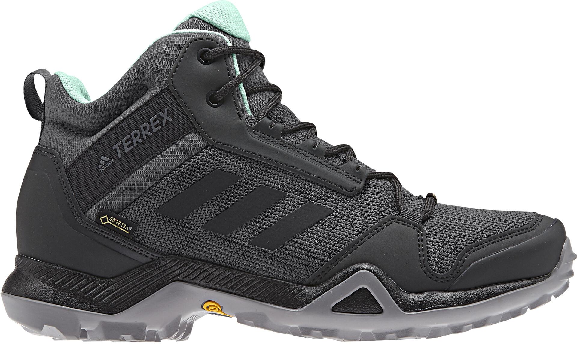 adidas TERREX AX3 Mid Gore-Tex Wandelschoenen Dames, grey five/core  black/clear mint